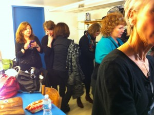 The crowded dressing room,