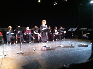 and Beverley Elliott reading from her solos show. . .didn't see that comingjpg
