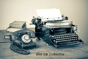 Wet Ink logo old typewriter and telephone jpg